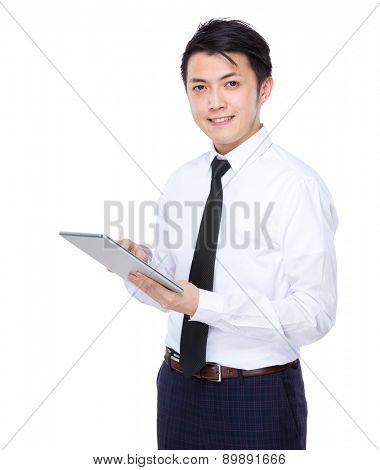 Businessman use of digital tablet