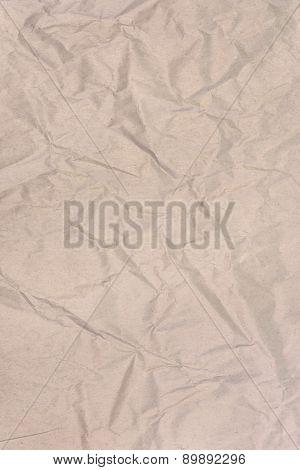 Brown Wrinkled Paper Background