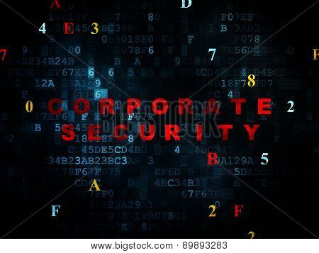 Protection concept: Corporate Security on Digital background