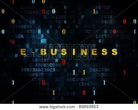 Finance concept: E-business on Digital background