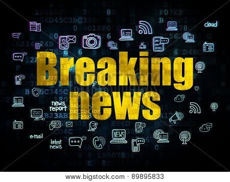 News concept: Breaking News on Digital background