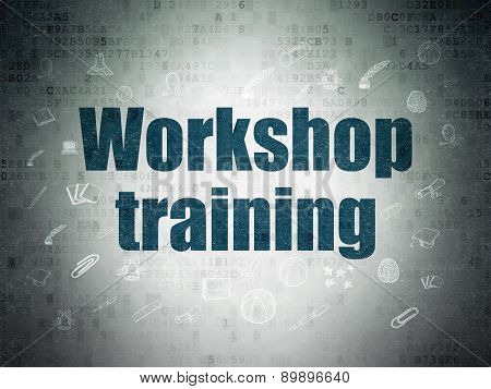 Education concept: Workshop Training on Digital Paper background