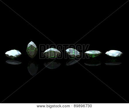 Gemstone. Collections of jewelry background. Topaz