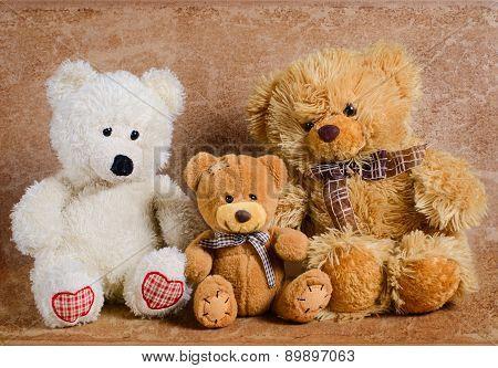 Three toy bears