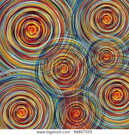 Abstract Colorful Twirl Circles Background