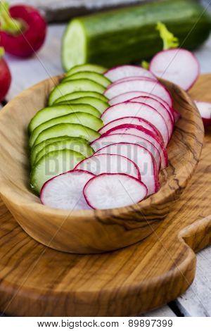 Radish And Cucumber