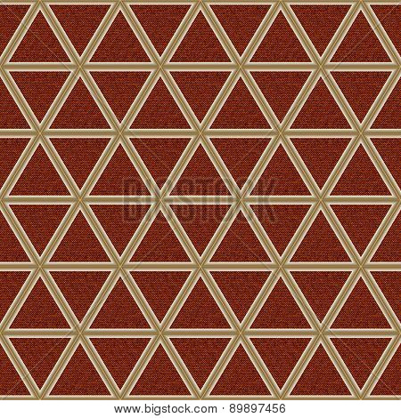 Terracotta Jeans Background With Rhombs
