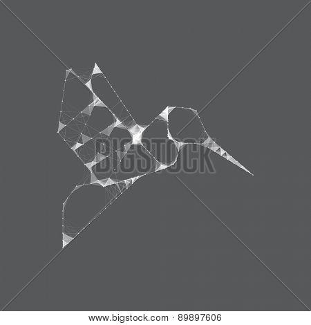 Hummingbird Mesh Vector Design