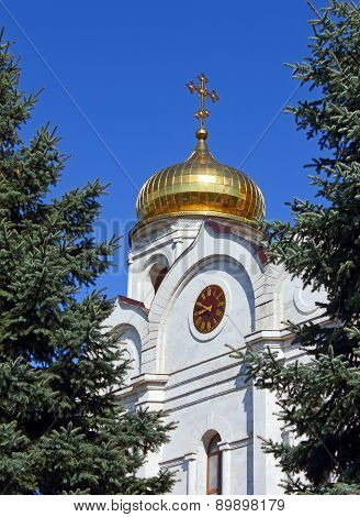 The Cathedral Of Christ The Savior In Pyatigorsk.