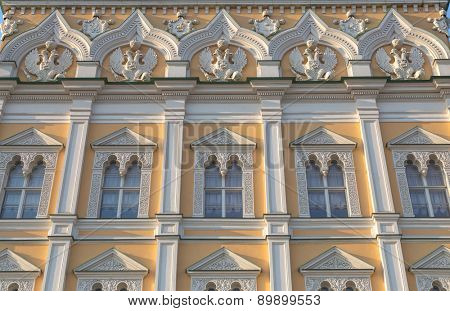 decoration of facade Grand Kremlin Palace in Moscow, Russia