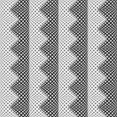 stock photo of parallelogram  - Design seamless monochrome vertical zigzag pattern - JPG