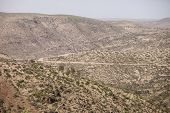 picture of ethiopia  - desert mountains of eastern Ethiopia with terraced cropland - JPG