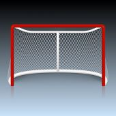 picture of hockey arena  - Vector red hockey goal - JPG