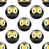 stock photo of emoticons  - Vector ninja emoticon repeated on white background - JPG