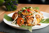 foto of turnips  - Thai style radish cakes dish with chicken - JPG