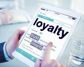 stock photo of loyalty  - Digital Online Dictionary Meaning Loyalty Concept - JPG