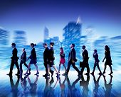 stock photo of commutator  - Business People Commuter Cityscape Team Concept - JPG