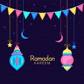 stock photo of ramadan mubarak card  - Holy month of muslim community - JPG