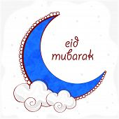 picture of eid festival celebration  - Creative blue moon on clouds for Muslim community festival - JPG