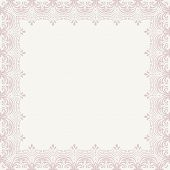 picture of damask  - Oriental vector frame with damask - JPG