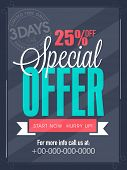 stock photo of special day  - Special offer for 3 days only flyer - JPG