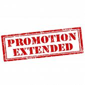 stock photo of extend  - Grunge rubber stamp with text Promotion Extended - JPG