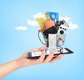 stock photo of nouns  - Online shop concept - JPG