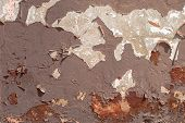 pic of deformed  - fragment of a concrete wall - JPG