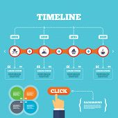 stock photo of chefs hat  - Timeline with arrows and quotes - JPG