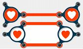 pic of text-box  - Two vector abstract text boxes for your text and heart icon - JPG