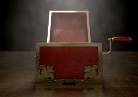 image of jack-in-the-box  - An ornate antique open jack - JPG