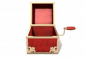 stock photo of jack-in-the-box  - An ornate antique open jack - JPG