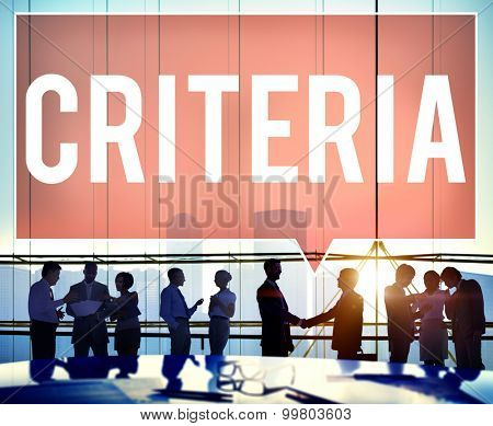 Criteria Business Corporate People Concept