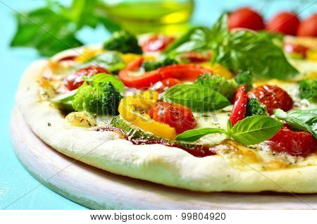 Fresh Homemade Veggie Pizza.