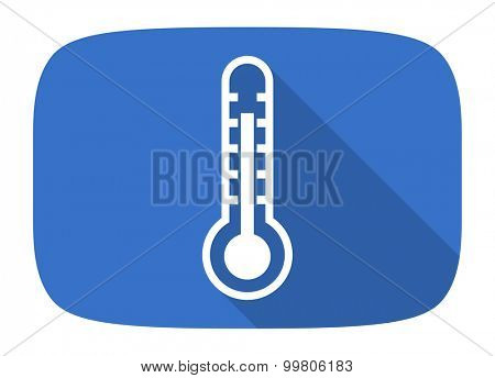 thermometer flat design modern icon with long shadow for web and mobile app