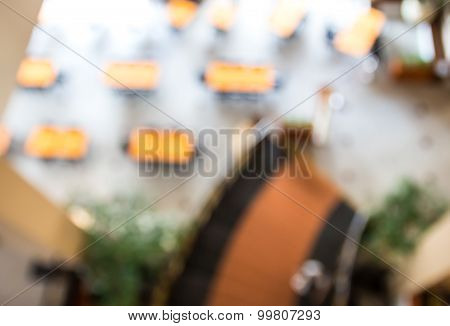 Image Blurred Of Restaurant Background