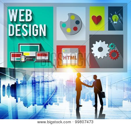 Web Design Layout Homepage Idea Design Software Concept
