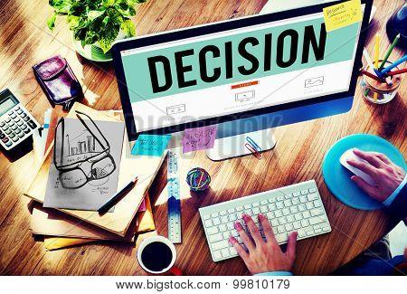 Decision Choose Chance Selection Option Concept