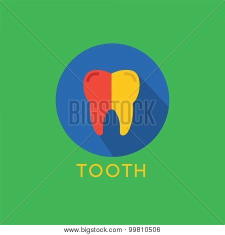 Tooth Icon logo template. Health, medical or doctor and dentist office symbols. Oral care, dental, dentist office, tooth health, tooth care, clinic. Tooth logo. Tooth icon. Tooth silhouette