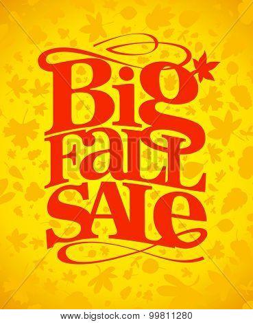 Big fall sale typography design.