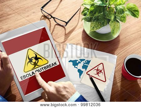 Ebola Outbreak Digital Device Internet Wireless Searching Concept