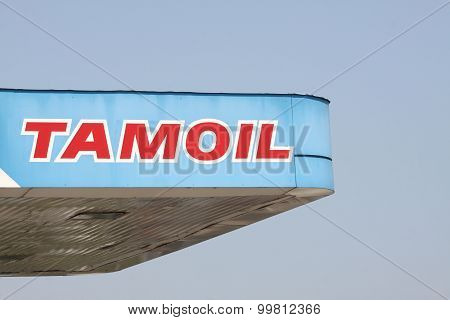 Tamoil logo on a gas station