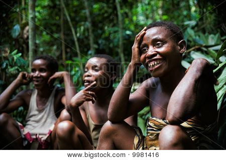 Baka Pygmies Women.