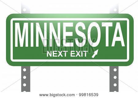 Minnesota Green Sign Board Isolated