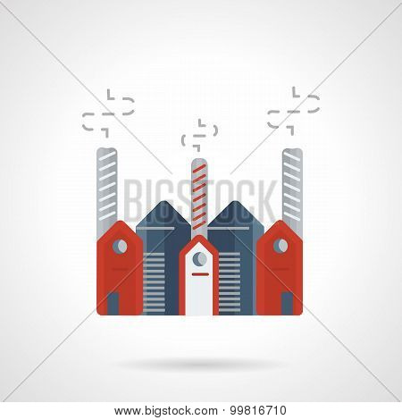 Pharmaceutical plant vector icon flat style