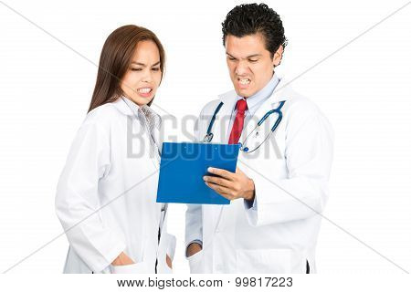 Bad Reaction Asian Hispanic Doctors Team Charts H