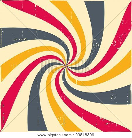 Abstract Colorful Hypnotic Background