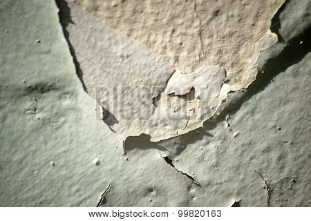 Chipped paint layers