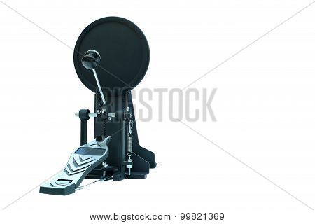 Clipping Path Of The Electric Drum Pedal Isolated