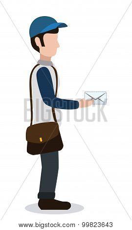 Delivery postman design.
